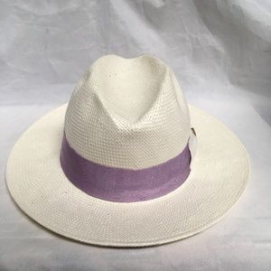Aqua Bow Detail Purple Trim Fedora